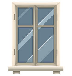 glass window with white frame vector image