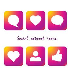gradient icon social network vector image
