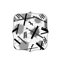 Grayscale quadrate with graphic style figure vector