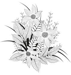 Hand Drawn Flower Sketch vector image