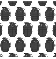 hand grenade seamless pattern arm weapon vector image