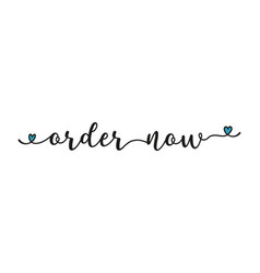 Hand sketched order now quote as ad web banner vector