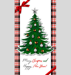 Happy new year and merry christmas houndstooth vector