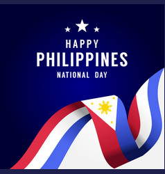 Happy philippines independence day design vector