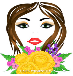 Happy womens day greeting card vector