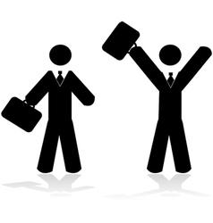 Happy worker vector image