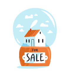House for sale isolated vector