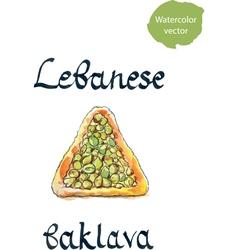 Lebanese baklava vector image