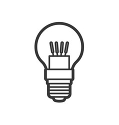 led light lamp bulb outline icon vector image