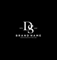 Letter ds logo design vector