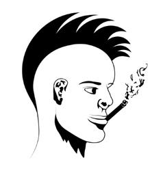 Man smokes vector image