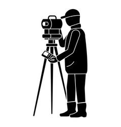 Man surveyor icon simple style vector