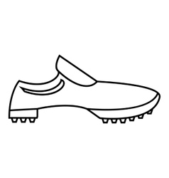 Men sneakers icon outline style vector image