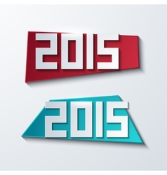 modern 2015 banners new year background vector image