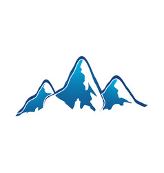 mountain logo elegant mountain logo design eps10 vector image