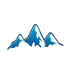 mountain logo elegant mountain logo design eps10 vector image