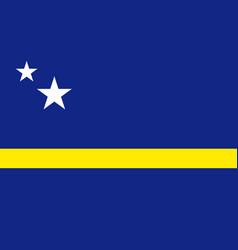 National flag curacao island in caribbean sea vector