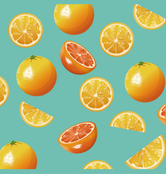 orange fruit fresh seamless pattern design vector image