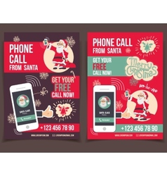 Phone call from Santa fyers design vector image