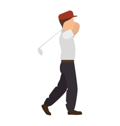 Player golf man vector