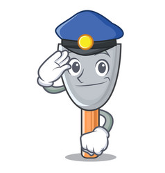 Police putty blade character cartoon vector