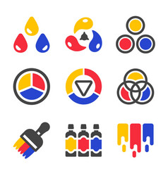 primary color icon vector image