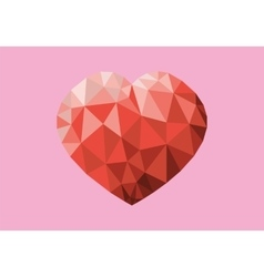 Red Heart On Pink Backdrop vector image