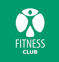 Round logo for fitness clubs on a green background vector image