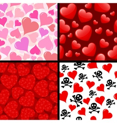 Seamless hearts patterns vector