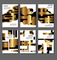 Set of golden covers for brochures vector