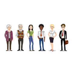 Set of people of different nationalities and ages vector