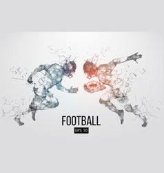 silhouette a american football rugby vector image