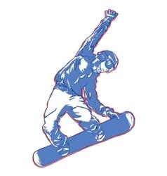 snowboard jump champion vector image