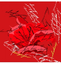 stylized rose flower vector image
