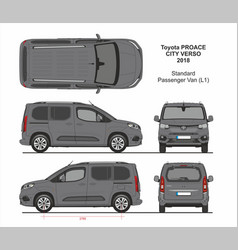 Toyota proace city verso van l1 2018-present vector