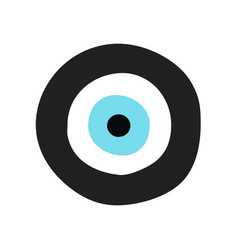 Traditional greek evil eye in black and turquoise vector