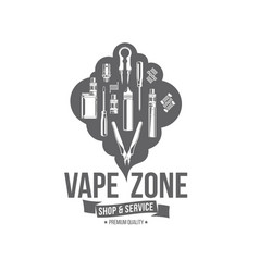 Vape badges vector