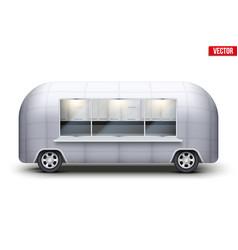 Vintage food truck vector