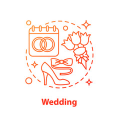 wedding concept icon vector image