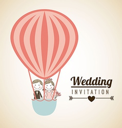 Wedding invitation vector