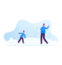 winter season outdoors leisure and activities vector image
