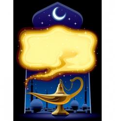Aladdin's lamp vector