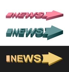 Arrows news vector image vector image