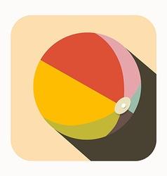 Beach ball icon vector