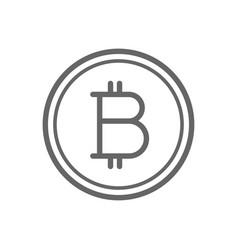 bitcoin coin line icon vector image