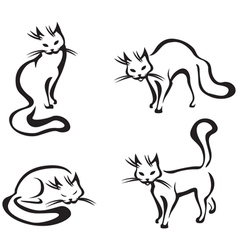 cute home cats vector image