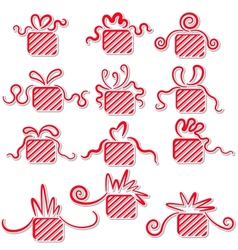 Holiday gifts with ribbons vector image vector image