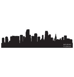 Miami Florida skyline vector image vector image