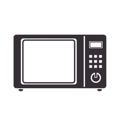 oven electric microwave vector image
