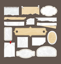 retro scrapbooking collection with old vector image vector image